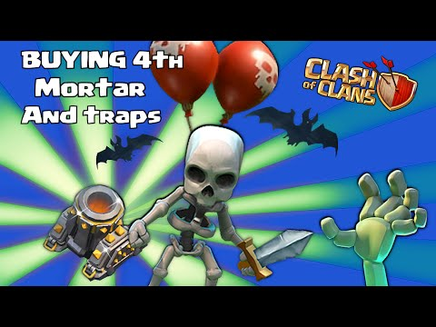 4th - Clash of clans new October halloween update with a 4th mortar, Traps and more! Hold on to your booties because we are gonna buy all of it! Whats up my doods, It's Godson YEEEAAAAaa!! Welcome...