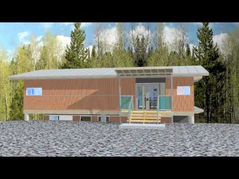 The Waterfall House II, sustainable, green & modular home in Canada (revised)