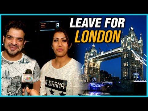 Karan Patel And Ankita Bhargava Leave For London |
