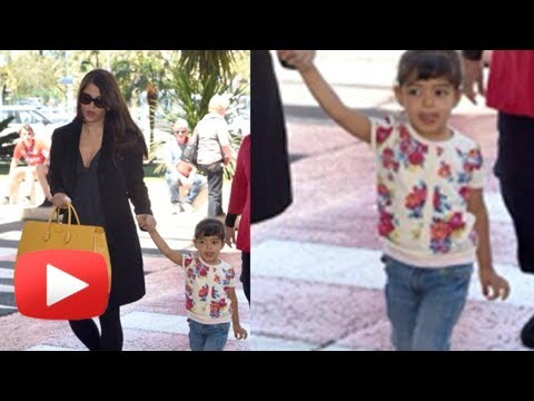 Cannes - Cannes 2014 Update : Catch a glimpse of Bollywood actress Aishwarya Rai Bachchan and her two and half year old daughter Aaradhya Bachchan who bade goodbye to...