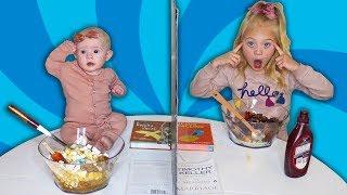 Video Twin Telepathy Ice Cream Sundae Challenge VS My Baby Sister!!! MP3, 3GP, MP4, WEBM, AVI, FLV Juni 2019