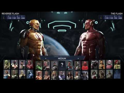 The Flash Vs The Reverse Flash - Injustice 2 PS4 Gameplay