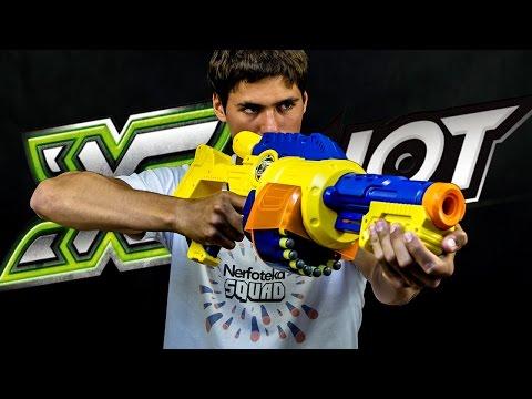 Скорострельный бластер Zuru X-Shot EXCEL Турбо-Огонь, 20 патронов (3606)