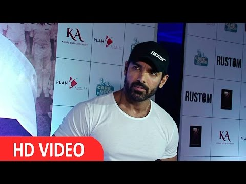 John Abraham At Premier Of Movie Rustom