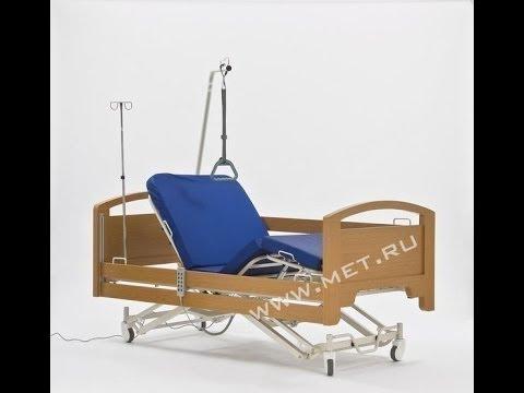 Функциональная кровать с электроприводом и спинками из дуба FS 3232 WМ
