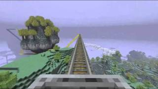 Minecraft Aether Mod ROLLERCOASTER RIDE! Big Sky Tour with Dungeons!