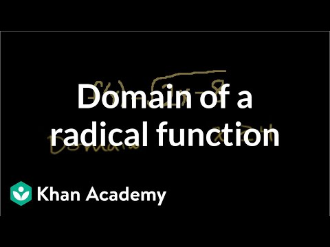 Domain of a radical function video khan academy ccuart Image collections