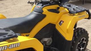 9. 2012 Can-am Outlander XT 800cc, Lot #69
