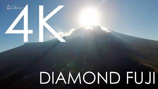 4K空撮 / 空中ダイヤモンド富士と植物限界線