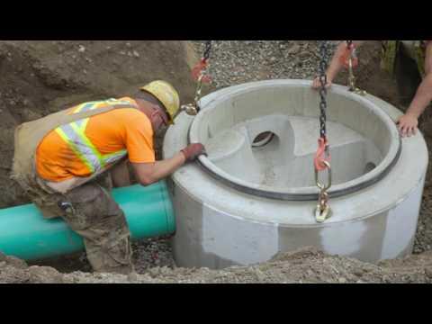 Manhole installation