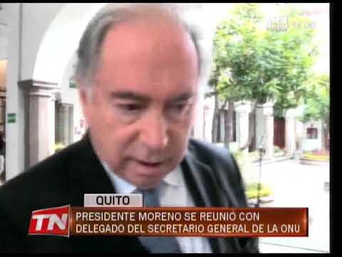 Presidente Moreno se reunió con delegado del secretario general de la ONU