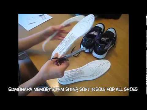 GB95 Gizmobaba Memory Foam Super Soft Insole For All Shoes!