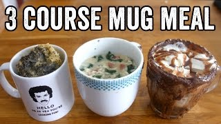 3 COURSE MICROWAVE MUG MEAL by  My Virgin Kitchen