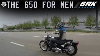 1. Is the V star 650 big enough for a man? (highway)