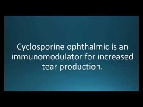 How to pronounce cyclosporine opthalmic (Restasis) (Memorizing Pharmacology Video Flashcard)