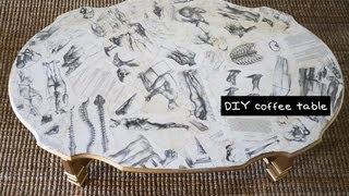 DIY Decoupage Coffee Table - Furniture Design Tutorial with Mr. Kate - YouTube