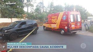 Em Paraguaçu Paulista mulher atropela marido que estava de moto com outra mulher