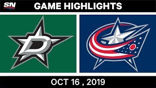 NHL Highlights | Stars vs Blue Jackets – Oct 16 2019 by Sportsnet Canada