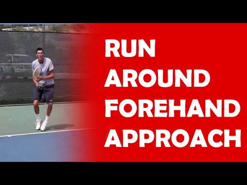 Run-Around Forehand | FOOTWORK FOR APPROACH SHOTS