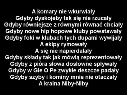 Tekst piosenki Paktofonika - Gdyby po polsku