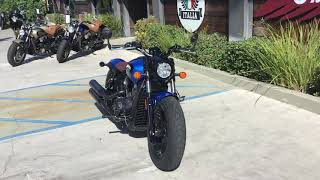 10. 2020 Indian Scout Bobber ABS Icon Series in Radar Blue for Sale in Orange County, CA