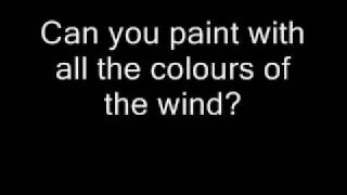 Pocahontas   Colours Of The Wind Lyrics