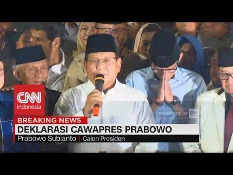 Download Video Prabowo Pilih Sandiaga Uno Jadi Cawapres, Deklarasi PKS, Gerindra, & PAN
