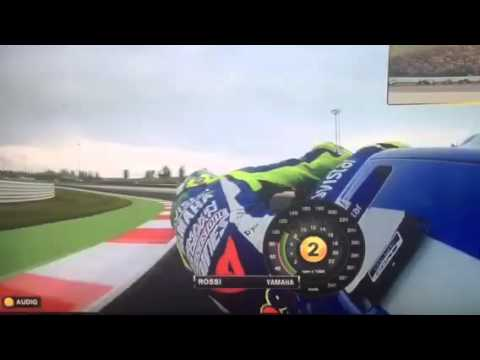 valentino rossi nel gp di misano 2015 on board