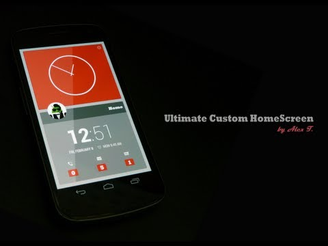 Video of Ultimate Custom Homescreen