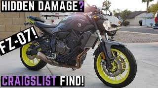 5. Buying Used Yamaha FZ07 on Craigslist: 0 - 60 mph, Test Ride, Review, First Impressions FZ-07 2016