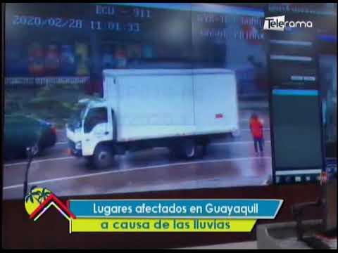 Lugares afectados en Guayaquil a causa de las lluvias
