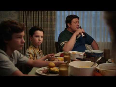 Young Sheldon S01E07: Meemaw's Secret Beef smoked Brisket Recipe