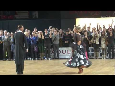 Mirko - Mirko Gozzoli and Edita Daniute, LTU, perform their Dance of Honour after winning the 2013 WDSF PD World DanceSport Championship Standard in Bassano del Grap...