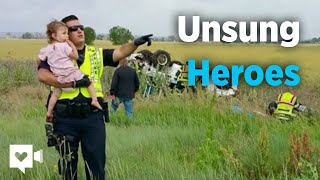 Officer shares story behind emotional photo