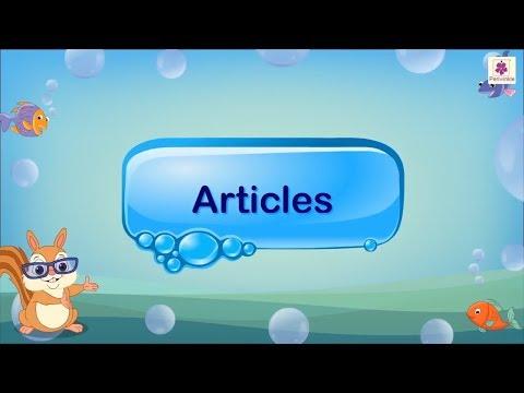 Articles | English Grammar & Composition Grade 4 | Periwinkle