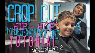 Must Watch Kids Crop Cut FreeStyle Tutorial by AROD the barber !! SPANISH