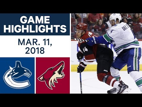 Video: NHL Game Highlights | Canucks vs. Coyotes - Mar. 11, 2018