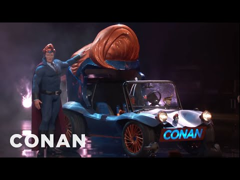 Conan O Brien Unveils His New Superhero Vehicle at