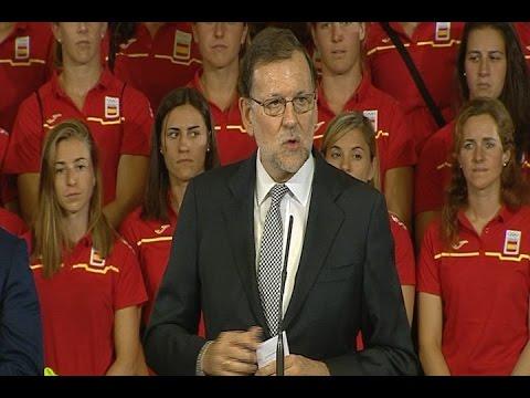 """28/07/2016 Rajoy se inspira en el espíritu olímpico para """"no rendirse"""""""