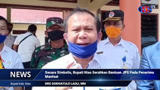 Secara Simbolis, Bupati Nias Bagikan JPS Pemprov Sumut Pada Penerima Manfaat (HARIANSIBER TV)