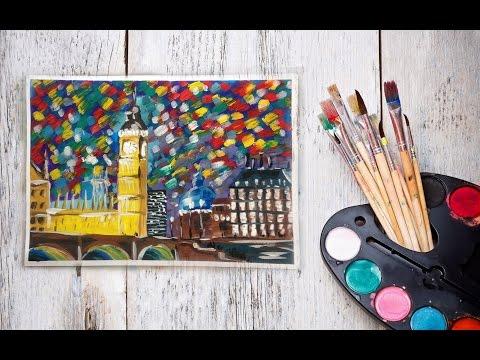 Рисунки гуашью с дари арт
