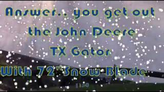 8. Plowing Snow with a John Deere TX Gator on Christmas 2017