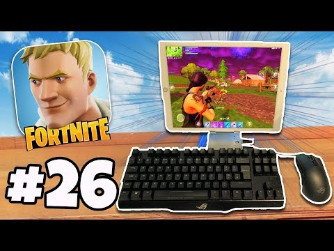 KEYBOARD & MOUSE On Fortnite Mobile iPad / iPhone | Fortnite Battle Royale IOS/Android Part 26 (видео)
