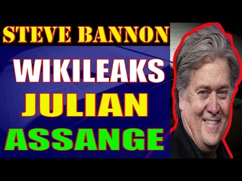 Steve Bannon ❤ Wikileaks Julian Assange + Journalist Lee Stranahan,December 07,2017