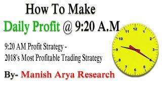 Profit Strategy - 2018's Most Profitable Trading Strategy by Manish Arya Research