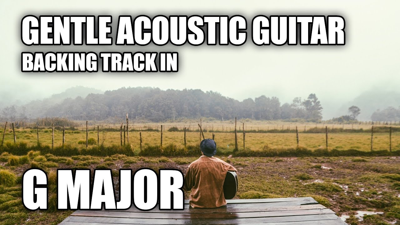 Gentle Acoustic Guitar Backing Track In G | Love Me
