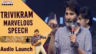 Video Trivikram Marvelous Speech @ Agnyaathavaasi Audio Launch   Pawan Kalyan   Anirudh MP3, 3GP, MP4, WEBM, AVI, FLV Januari 2018