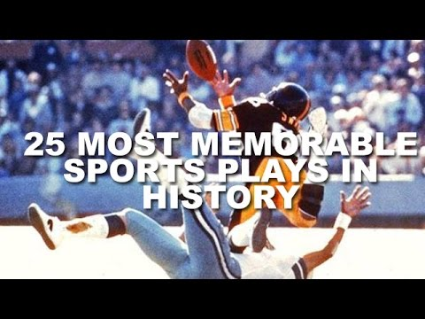plays - Although the past century has certainly had its share of memorable moments in sporting, there are certain instances that stand out above the rest. Sometimes it's something huge like when American...