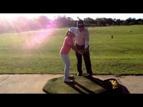 [Australian Golf Academy _ ANK GOLF] Cindy with Ian Triggs – Getting the back swing right
