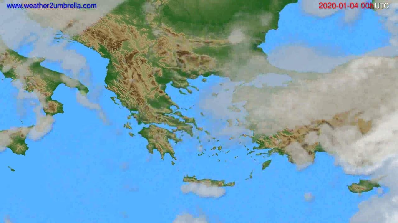Cloud forecast Greece // modelrun: 00h UTC 2020-01-03